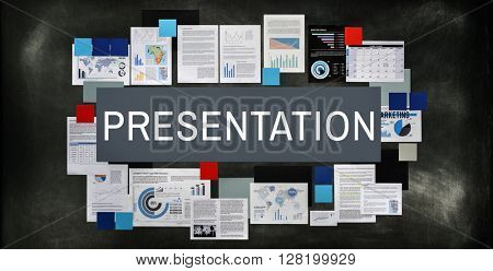 Presentation Communication Giving Information Concept