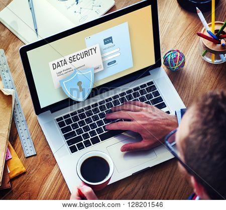 Data Security Digital Internet Phishing Online Concept