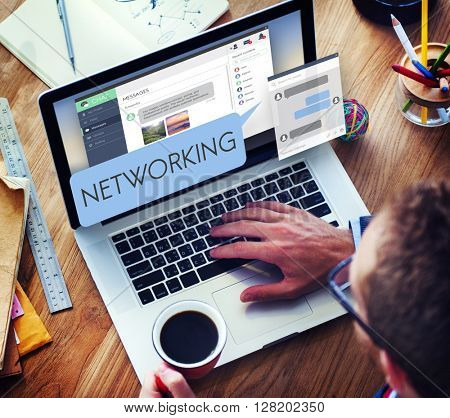 Networking Computer System Connection Social Concept