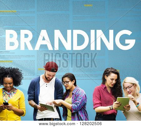 Branding Advertising Marketing Profile Label Concept