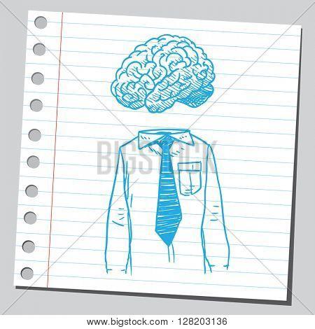 Brain, shirt and tie