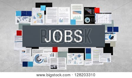 Jobs Occupation Hiring Employment Concept