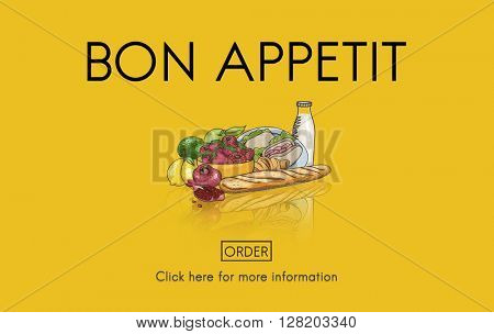 Bon Appetit Food Meal Catering Concept