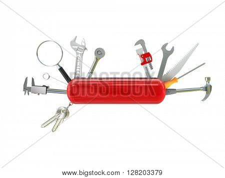 swiss knife multi tool 3d