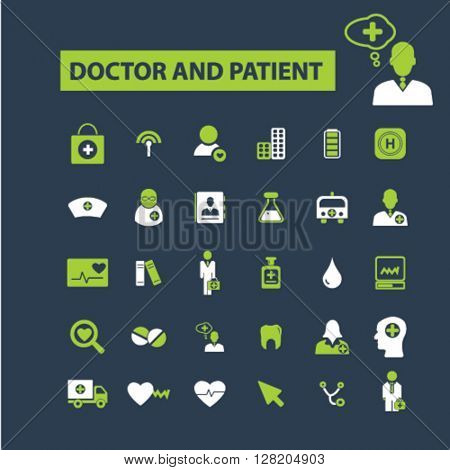 doctor and patient icons