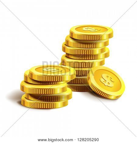 Vector Illustration of golden coins.