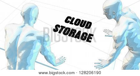 Cloud Storage Discussion and Business Meeting Concept Art 3D Illustration Render