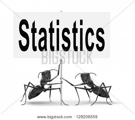 Statistics and data analysis for website survey, road sign billboard