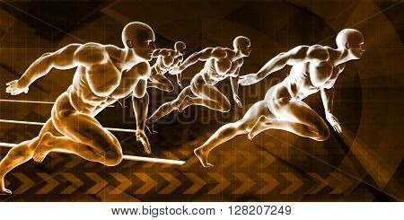 Physical Training and Conditioning for the Ideal Body 3D Illustration Render