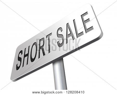 short sale sign reduced prices sales billboard