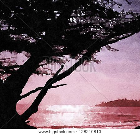 beautiful Painting of a Northern California Beach