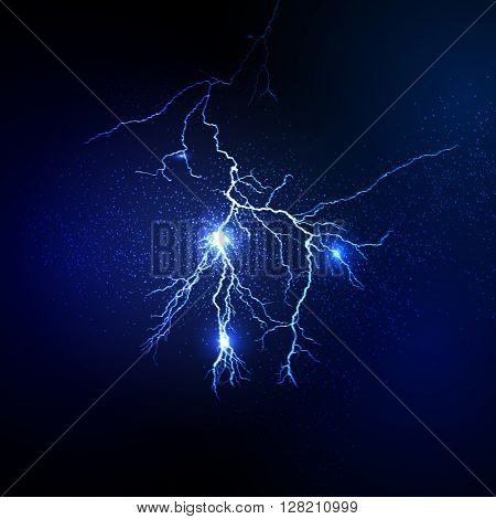 Thunderstorm and lightnings Magic and bright lighting effects