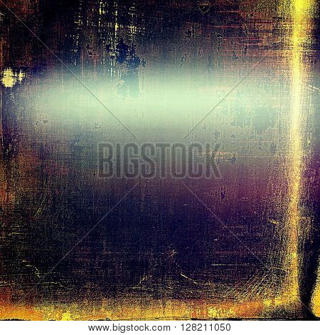 Mottled vintage background with grunge texture and different color patterns: yellow (beige); brown; blue; purple (violet); black