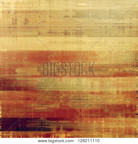 Colorful grunge texture or background with vintage style elements and different color patterns: yellow (beige); brown; gray; red (orange); purple (violet); pink