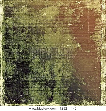 Grunge retro texture, aged background with vintage style elements and different color patterns: yellow (beige); brown; gray; green; black