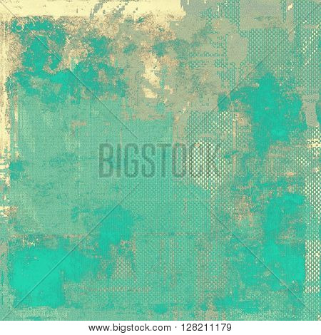 Vintage mottled frame, textured grunge background with different color patterns: yellow (beige); brown; gray; blue; cyan