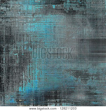 Grunge colorful texture, aged weathered background with different color patterns: brown; gray; blue; black; cyan