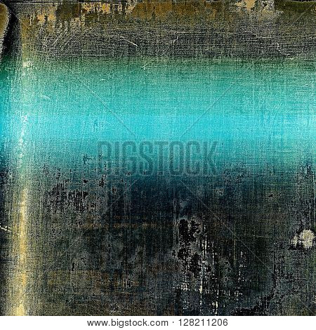 Old, grunge background or damaged texture in retro style. With different color patterns: yellow (beige); brown; gray; blue; black