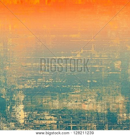 Ancient texture or damaged old style background with vintage grungy design elements and different color patterns: yellow (beige); brown; blue; red (orange); pink; cyan