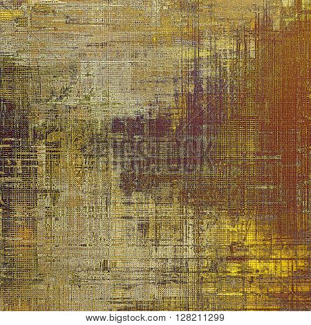 Vintage torn texture or stylish grunge background with ancient design elements and different color patterns: yellow (beige); brown; gray; purple (violet)