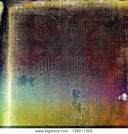Vintage background with dirty grungy texture or overlay and different color patterns: yellow (beige); brown; blue; red (orange); purple (violet); black