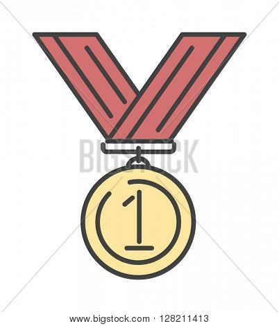 Medal award isolated vector icon