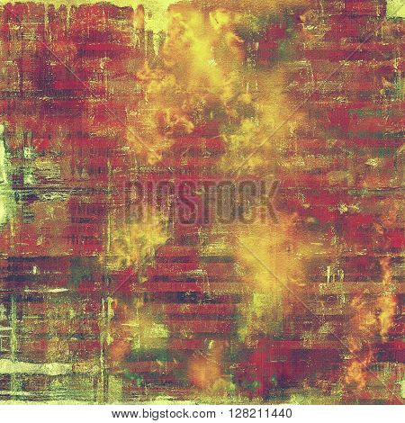 Vintage style designed background, scratched grungy texture with different color patterns: yellow (beige); brown; green; red (orange); purple (violet); pink