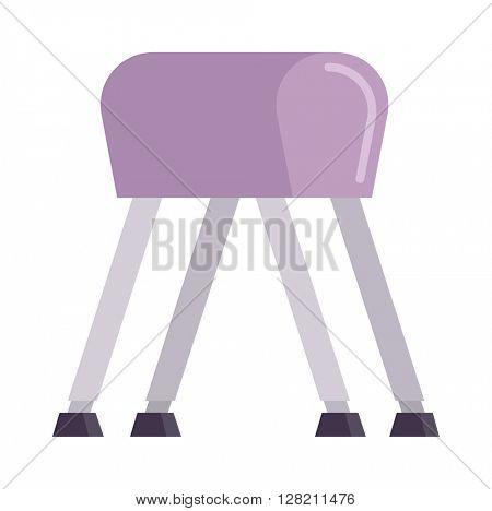Pommel horse vector illustration.