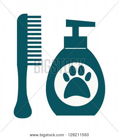 Dog hygiene vector icon.