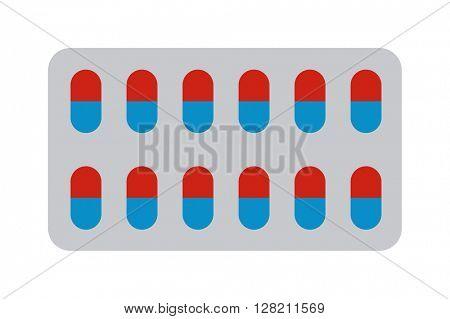 Pills blister vector illustration.