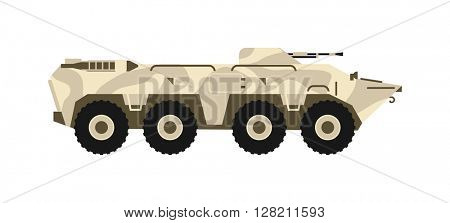 BTR tank vector illustration.