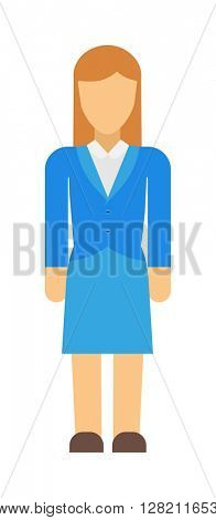 Abstract woman silhouette vector illustration.