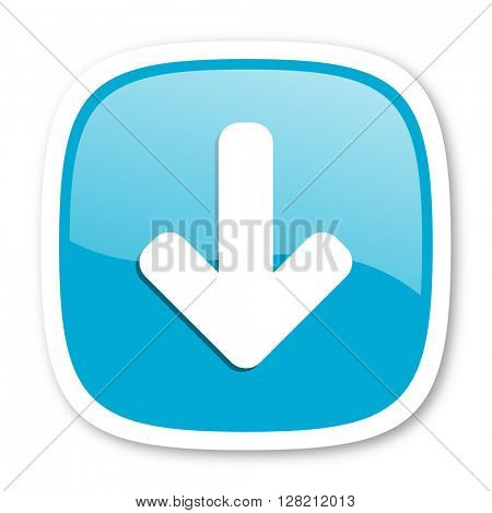 download arrow blue glossy icon