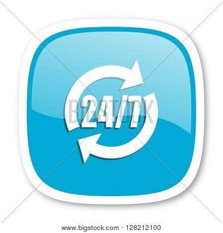 service blue glossy icon
