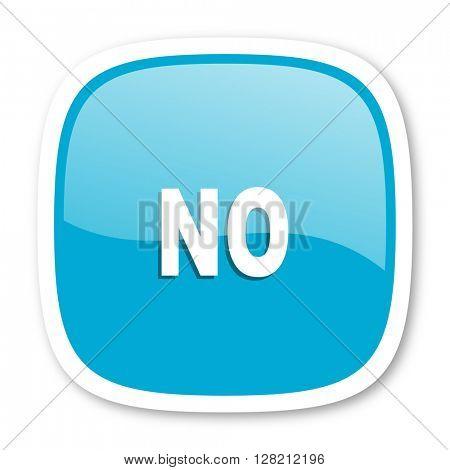 no blue glossy icon