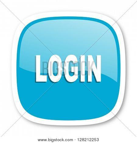 login blue glossy icon