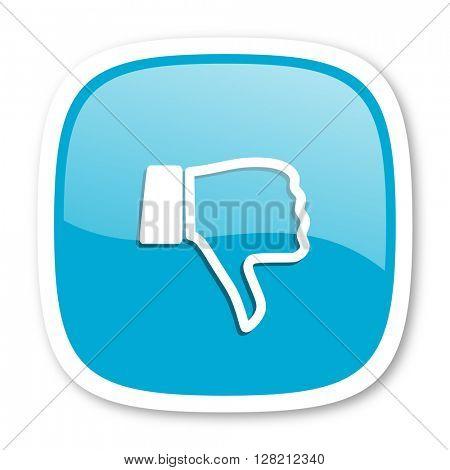dislike blue glossy icon