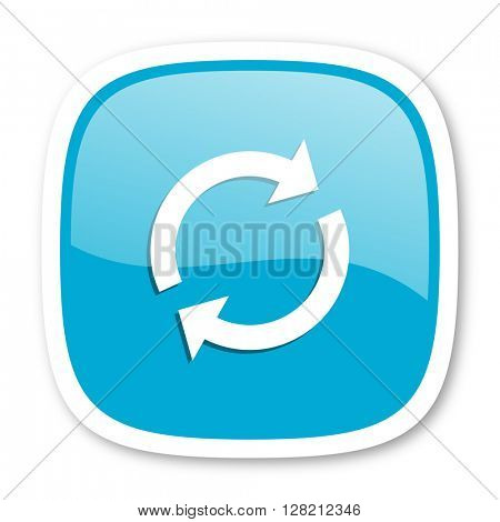 reload blue glossy icon