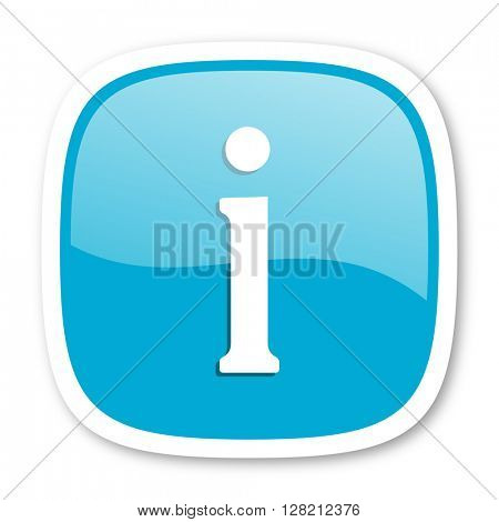 information blue glossy icon