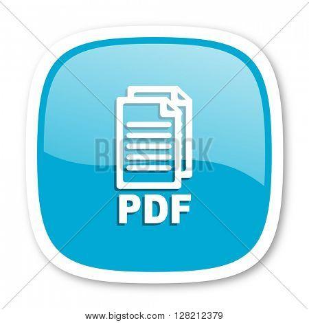pdf blue glossy icon,