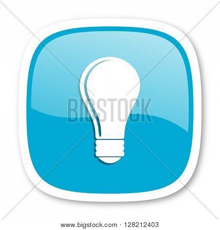 bulb blue glossy icon
