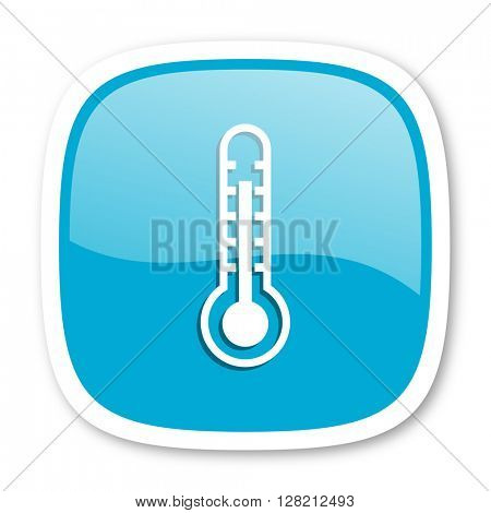 thermometer blue glossy icon