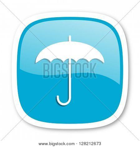 umbrella blue glossy icon