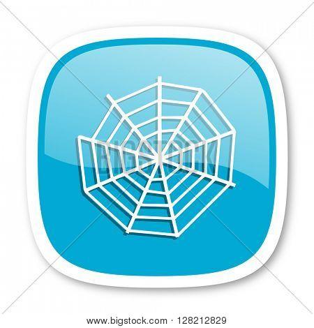 spider modern web blue glossy icon