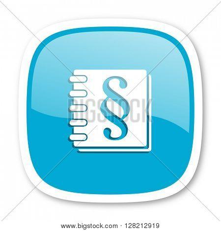 law blue glossy icon