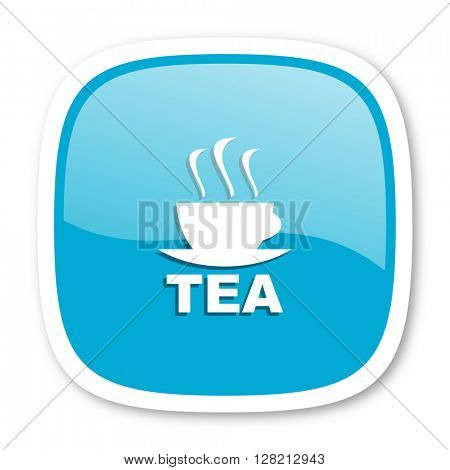 tea blue glossy icon