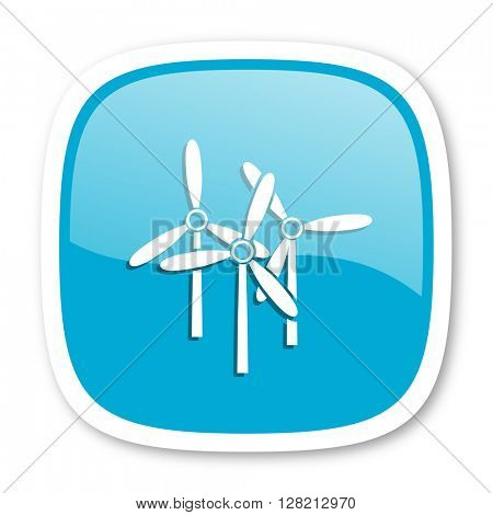 windmill blue glossy icon