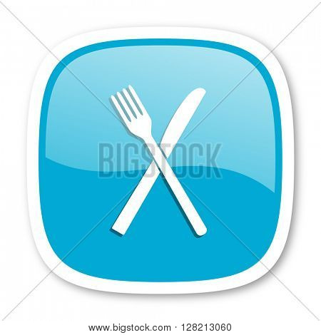restaurant blue glossy icon