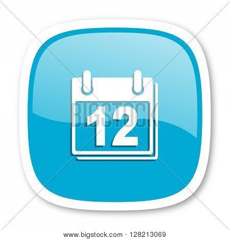 calendar blue glossy icon
