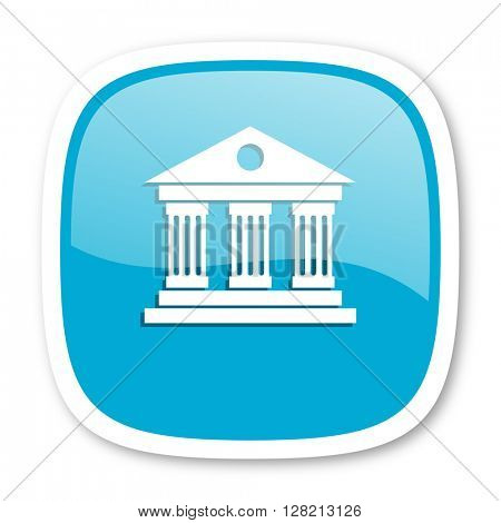 museum blue glossy icon